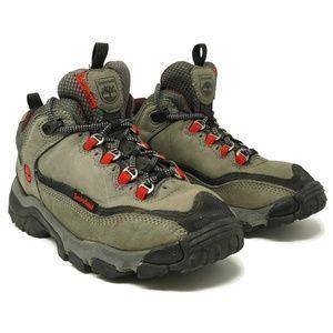 Timberland Womens Hiking Boots 6.5 M Gray Green